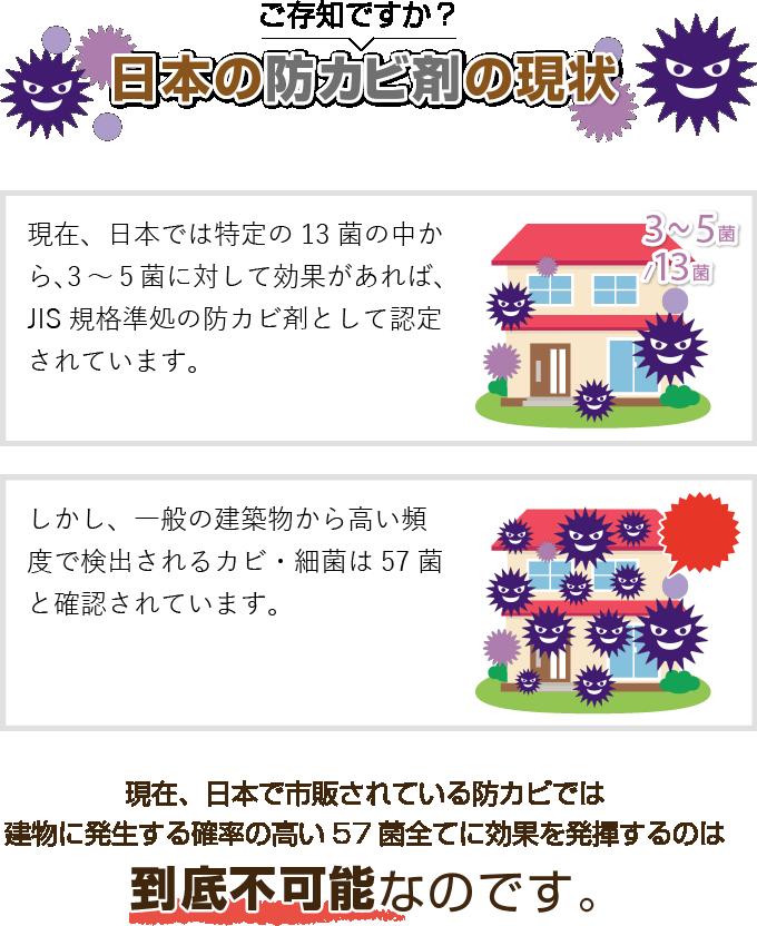 日本の防カビ剤の現状